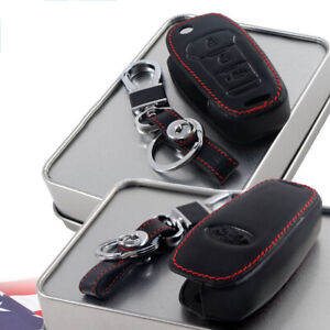 Ford Ranger Mustang Mondeo Focus Escort 16 Leather Flip Key Fob Case Cover