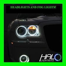 2005-2010 Chrysler 300c Weiß Scheinwerfer + Nebelscheinwerfer Halo Ringe Set Von