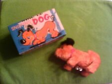 """RARE ONE! VINTAGE JAPAN WIND-UP SNIFFING DOG  """"TN"""" TRADE MARK WITH ORIGINAL BOX"""