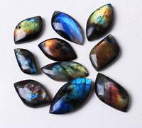 Natural Labradorite Quartz Crystal Pendant Mineral Specimen reiki healing 10PCs