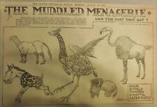 The Muddled Menagerie by Crane from 8/13/1905 Half Page Size!