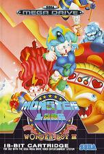 # como nuevo: Sega Mega Drive-Wonder Boy 3: monstruo CIair/MD juego #