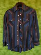 Wrangler Western shirt Pearl snaps buttons X Long Tails size 16-33