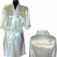 Personalised Wedding Ring Robe / Dressing Gown Ideal for Bride Bridesmaid Mother