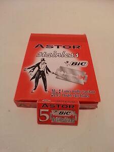 ASTOR STAINLESS BIC 5/10/25/50/100 Double Edge Safety Razor Blades UK stock