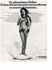 PUBLICITE  1971   SOFTER  LMT pompes SALMSON adoucisseur d'eau