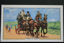 Horse Drawn Coach   1930's Vintage Illustrated Card ## VGC