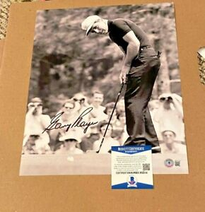 GARY PLAYER SIGNED 11X14 PGA GOLF PHOTO BECKETT CERTIFIED PGA #12