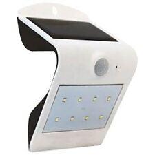 LED Solar Wall Light with PIR Sensor White Body Gardens, Pools , Walkways etc