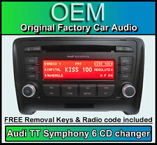 Audi TT 6 CD changer MP3 player, Audi Symphony car stereo with radio code + keys