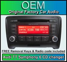 AUDI TT 6 Caricatore CD Lettore mp3, Audi Symphony Autoradio Con Codice Radio + CHIAVI