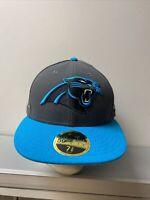 NWT Carolina Panthers NFL Team Headwear Hat Cap New Era 59 Fifty Size 7 3/8 USA