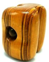 Vintage Mid Century MCM Unique Abstract Wood & Acrylic Desk Ornament Paperweight