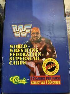 1991 Classic WWF Wrestling Card Box - 36 FACTORY SEALED  Packs HULK UNDERTAKER