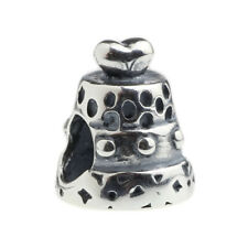 GUARANTEED Genuine .925 Sterling Authentic Silver Charm Celebration Cake