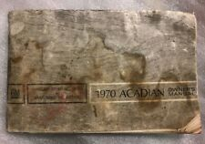 1970 GM ACADIAN OWNERS MANUAL (CANADIAN NOVA-SIZED PONTIAC), INSTRUCTION BOOK