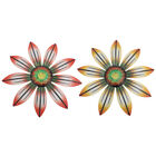 2pcs Wrought Iron Flower Pendant Iron Flower Wall Decoration For Home Dorm Hotel