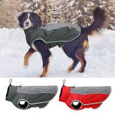 Reflective Dog Winter Clothes Warm Waterproof Pet Fleece Coat with Leash Hole