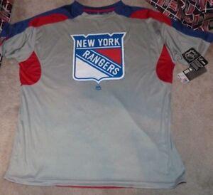 NEW NHL NY New York Rangers Jersey Style T Shirt Men BIG TALL 1X NEW NWT