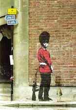 Banksy Guardsman Peeing A4 Sign Aluminium Metal
