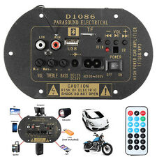 DIY 80W High Power 12V/24V/220V Bluetooth Car Subwoofer Hi-Fi Amplifier Board TF