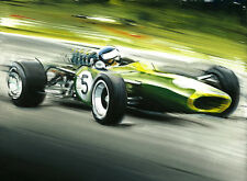 Jim Clark Lotus 49 1968 F1 Formula 1 Race Car New CANVAS Art Print Wall Poster