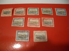 Set of (10) Mozambique Stamp Company 1935 Air stamps Airplane over Beira