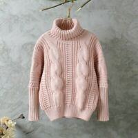 Women Turtle Neck Jumper Sweater Chunky Cable Knit Loose Pullover Top Casual New