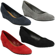 Clarks Suede Wedge Shoes for Women
