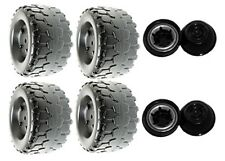 Power Wheels H3427 or H3427-9993 Barbie Jammin' Jeep Replacement Wheel- 4 Pack