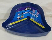 SUPER PET Hi-Corner Litter Pan Plastic Tray Small Animal Waste Built in Hooks