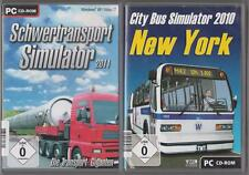 City Bus Simulator 2010 New York + Schwertransport Simulator 2011 Sammlung PC