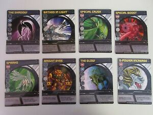 Set of 8 Bakugan Battle Brawlers Cards (Not Magnetic)