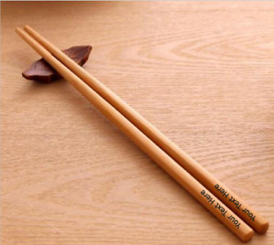 Personalised Engraved Bamboo Chopsticks Wedding Anniversary New Home Gift Wood