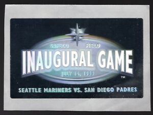 July 15, 1999 Seattle Mariners Safeco Field Inaugural Game Vs Padres