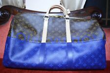 633247d25 RARE LOUIS VUITTON KEEPALL 50 Monogram Pacific Blue Outdoor Split 2018 Kim  Jones
