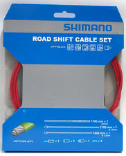 Shimano 105/5800 Tiagra/4700 Road OPTISLICK Coated Shift Cable Housing Set Red