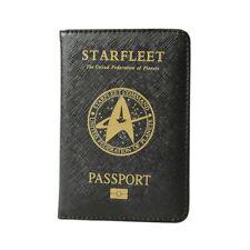 Star Trek Starfleet Passport CoverBlack Rfid Blocking Pu Leather Passport Holder