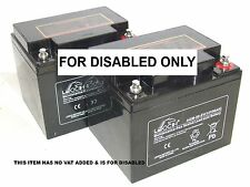 2 x LEOCH 12V 50AH (replaces 40ah & 42ah) Mobility Scooter Batteries *