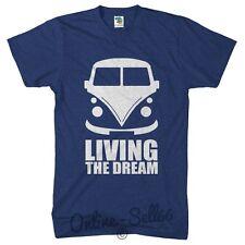Campervan Living The Dream Funny Men Camping Van Tshirt Festival T Shirt Tent
