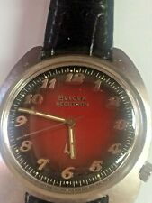 BULOVA ACCUTRON TUNING  FORK BLACK & RED WINE DIAL CAL 2180
