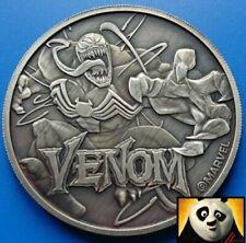 2020 TUVALU $1 One Dollar Venom Marvel Silver Antique 1oz Coin Perth Mint