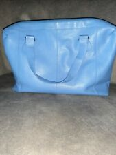 Tommy And Kate Baby Blue Leather Weekend Bag Holdall