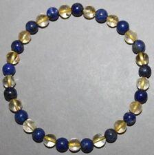 """Bracelet Citrine et Lapis lazuli 6 mm """"Large"""""""