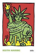 Statue of Liberty, 1986 by Keith Haring Art Print New York City Pop Poster 24x36