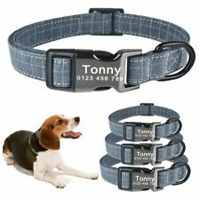 Personalized Dog Collar&Tags Small Large Pet Adjustable Custom Engeavd Dogs Name