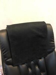 Recliner Head Rest Cover Suede faux Black 14x30 Sofa Love seat Chaise