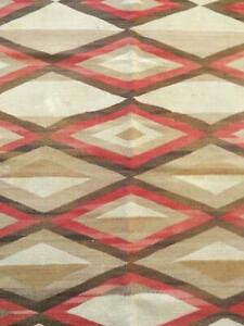 ANTIQUE VINTAGE NAVAJO INDIAN RUG BLANKET WEAVING - CRYSTAL POST TRANSITIONAL