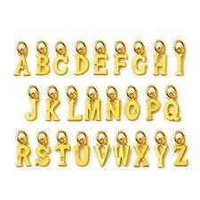 1PCS Pure 999 24k Yellow Gold Pendant/DIY Lucky English Letters Pendant 0.2-0.5g