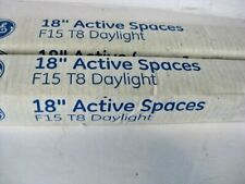"""2 of GE 18"""" Active Spaces Daylight F15 T8 Fluorescent F15T8 Tube 64231 NEW white"""